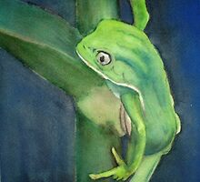 Brilliant Green Poison Dart Frog by icansketchu