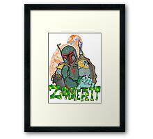 Boba Fett Zombie Framed Print