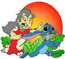 Zombie Lilo & Stitch by Skree