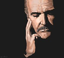 Sean Connery Digital Oil  by CutandSew
