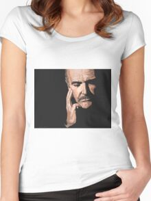Sean Connery Digital Oil  Women's Fitted Scoop T-Shirt