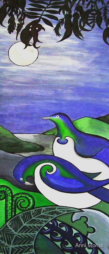 Wood Pigeons (Kerueru) by Anni Morris