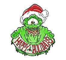 Slimer Christmas Photographic Print