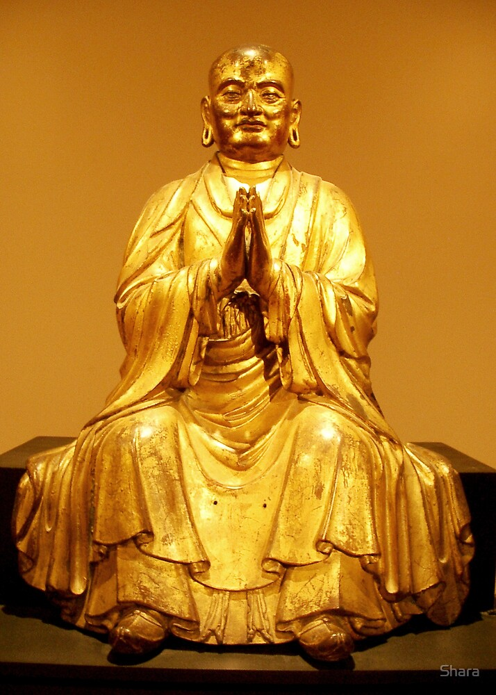 Golden Buddha by Shara