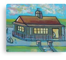 Park cafe (from my original acrylic painting) Canvas Print