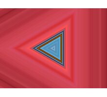 Blue and red triangles Photographic Print