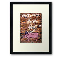 What's Your Gig Pig? - wall Framed Print