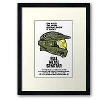 Full Metal Spartan Framed Print