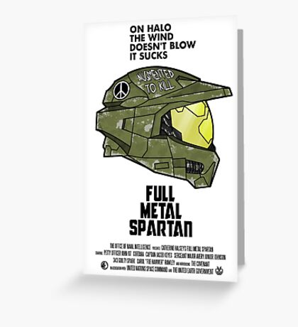 Full Metal Spartan Greeting Card