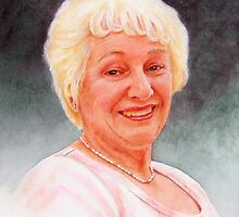 Oil painting of Lillian by Brian Towers