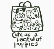 Cute as a bagful of puppies Kids Clothes