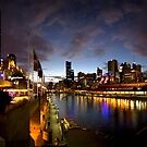 Melbourne skyline at night by Andrew Brown