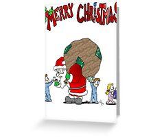 Santa gets tricked Greeting Card