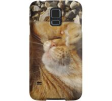 Hungover cat Samsung Galaxy Case/Skin