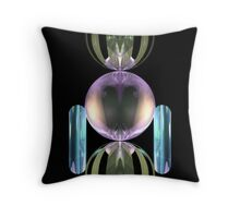 Glass robot at your service Throw Pillow