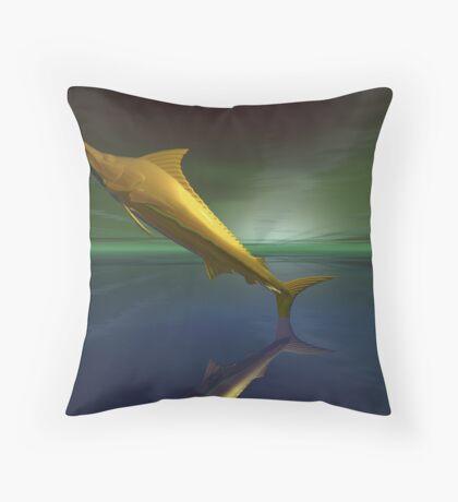 Golden fantasy dream marlin Throw Pillow