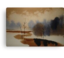 Peaceful Tranquil Contemporary Winter Scene Canvas Print