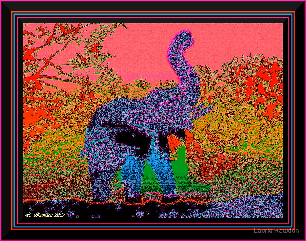 Tapestry Elephant by Laurie Rawdon