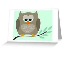 Duncan the Owl Greeting Card