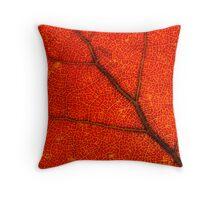 macro leaf Throw Pillow