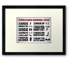 Zombieland Survival Guide Framed Print