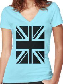 Union Black Women's Fitted V-Neck T-Shirt