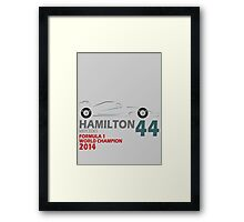 Lewis Hamilton World Champion 2014 Framed Print