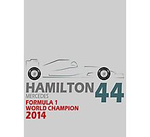 Lewis Hamilton World Champion 2014 Photographic Print