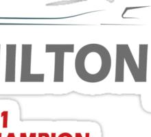 Lewis Hamilton World Champion 2014 Sticker