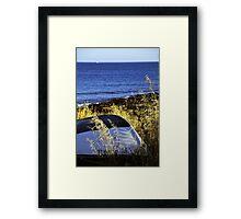 Praia da Luz - Clinker boat Framed Print
