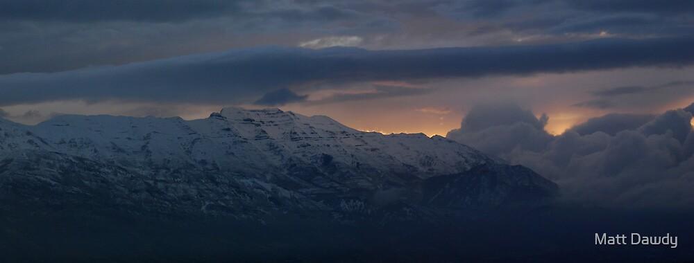 Mountain Snow Panorama by Matt Dawdy
