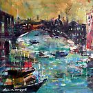 City Waterways - Boats & Cities Art Gallery by Ballet Dance-Artist