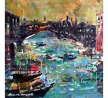 City Waterways - Boats & Cities Art Gallery Photographic Print