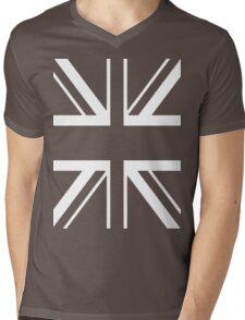 Union White Mens V-Neck T-Shirt