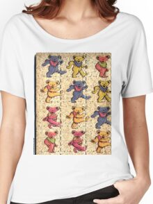 Greatfull Dead Teddy Bears Detail Women's Relaxed Fit T-Shirt