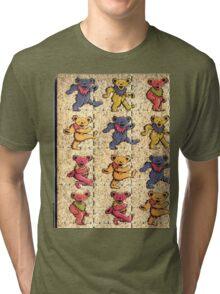 Greatfull Dead Teddy Bears Detail Tri-blend T-Shirt