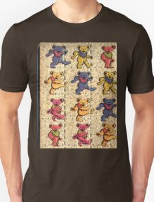 Greatfull Dead Teddy Bears Detail Unisex T-Shirt