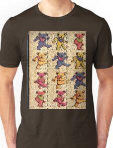 Greatfull Dead Teddy Bears Detail Unisex T-Shirt