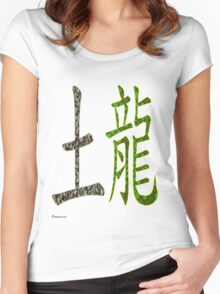 Earth Dragon  1928 AND 1988 Women's Fitted Scoop T-Shirt