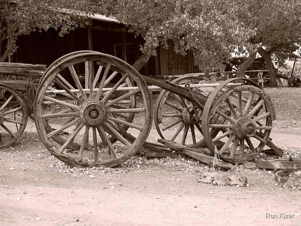 Sepia Tinted Wagon by Ron Kizer