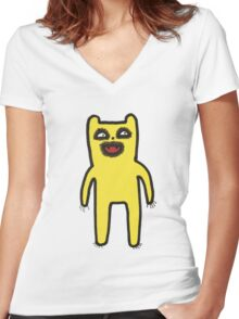 i might eat you Women's Fitted V-Neck T-Shirt