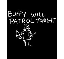 Buffy Will Patrol Tonight (Inverted) Photographic Print