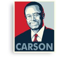 Ben Carson 2016 Canvas Print