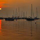 Hazy Sunset Over Itchenor by jakeof