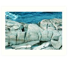 Large Rocks Art Print