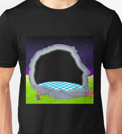 Glitch Land Tower Quest headroom frame Unisex T-Shirt