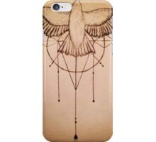 Sparrow with modern design iPhone Case/Skin