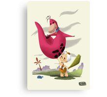 Bambam and Dino Canvas Print