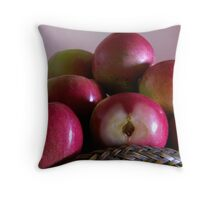 Fresh Apples with seeds Throw Pillow