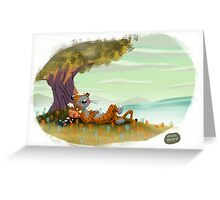 Calvin and Hobbes Greeting Card
